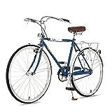 QIU La Primavera de Las Mujeres 7 veleiza a Las Damas y Las niñas Estilo holandés City Bike Lightweight 700C con Partes (24/26 Pulgadas) (Color : Blue, Size : 26')