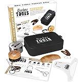 BARBER TOOLS  Kit/Set/Estuche de arreglo y cuidado de la barba
