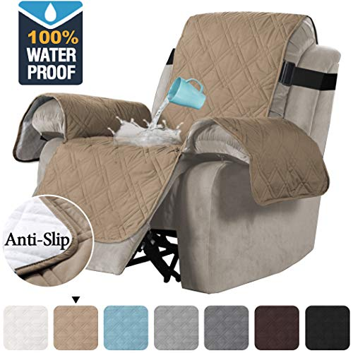 H.VERSAILTEX 100% Waterproof Quilted Recliner Chair Cover Recliner Cover Recliner Slipcover for...