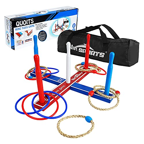 Win SPORTS Premium Wooden Ring Toss Game...