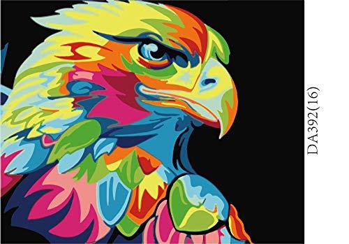 NHBTGH Juego de Pinturas por números para Adultos Águila Animal Pintada Pintura al óleo Digital sin Marco de DIY para el Arte de la Pared Imagen Decoración del hogar Ilustraciones 40x50 cm