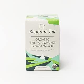 Kilogram Tea - Organic Emerald Spring Pyramid Tea Bags - Sustainably Produced - 15 count box