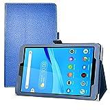 LFDZ Coque Lenovo Tab M8 FHD,Slim Fit PU Cuir Etui et Pliable Stand Housse Support Ultra-Mince et Léger Etui Cover Coque Case pour 8' Lenovo Tab M8 FHD (2nd Gen) TB-8705F Tablet,Bleu