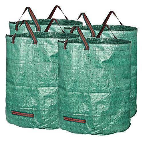 GardenMate 4X Gartensack 272l aus robustem Polypropylen-Gewebe (PP) 150gsm