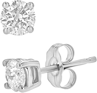 Best 1 ct total weight diamond earrings Reviews