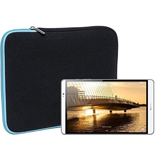 Slabo Tablet Tasche Schutzhülle für Huawei MediaPad M2 Hülle Etui Hülle Phablet aus Neopren – TÜRKIS/SCHWARZ