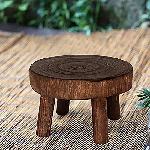 PinnacleT1 Pflanzenständer aus Holz, Vintage-Design, für Topfpflanzen, Zedernholz, Wurzelholz, Beistelltisch, Blumentopfhalter, Heimdekoration