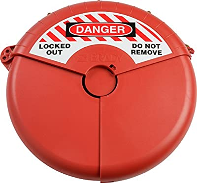 """Brady Collapsible Gate Valve Lockout Device - Compatible with Gate Valves 13-18"""" in Diameter - Red - 148646 by Brady Corp"""