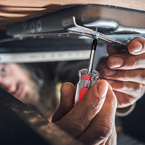 Stubby Mini Screwdriver Pocket Keychain Tool Screwdrivers Set, Ultra Short Screwdriver Performance Tools Kit Small Bits + Medium Bits + Key Screwdrivers Nut Driver DIY Finger Grip Drivers (6pcs)