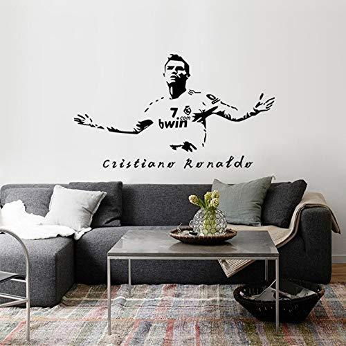 Fútbol Deportes Fútbol Super Star Player Cristiano Ronaldo CR7 Etiqueta de la pared Etiqueta engomada del coche Calcomanía de vinilo Boy Fans Dormitorio Sala de estar Club Decoración para el