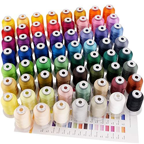 New brothread 63 Brother Colores Poliéster Máquina Bordado Hilo - 550yds (500 Metros) para máquina de bordar y coser