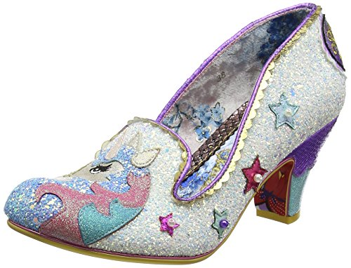 Irregular Choice Damen Little Misty Pumps, Weiß (White A), 38 EU