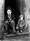 A4'Charlie Chaplin' schwarz und weiß Poster Art