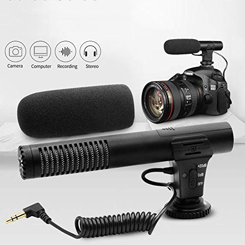 JSX Professionele 3,5 mm camera opnamemicrofoon audiostekker voor camera DSLR digitale video computer camcorder VLOG Microfoon