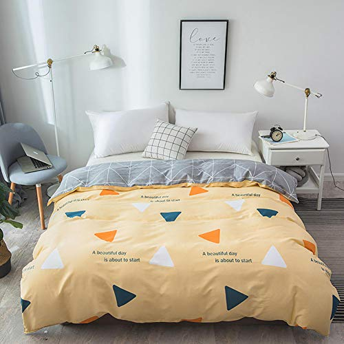 RR&LL 100% Cotton Printing Duvet Cover,easy Care Soft Comfy Breathable Reversible Hypoallergenic Fade Resistant Quilt Cover With Zipper-k 180x220cm(71x87inch)