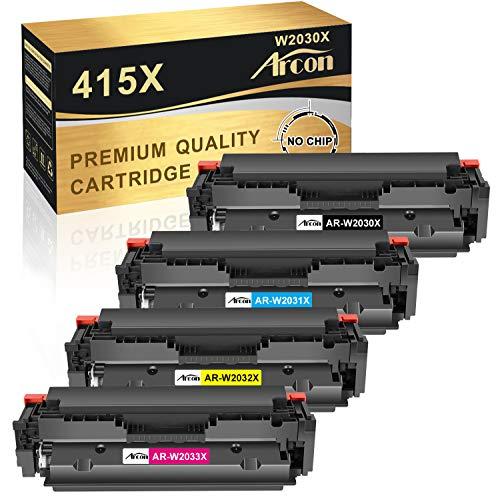 Arcon Kompatibel Toner Cartridge Replacement für HP 415X 415A W2030X W2030A M479FDW für Color Laserjet Pro MFP M479FDW M479FDN M479DW M479FNW M454DW M454DN M479 M454 W2031X W2032X W2033X (Kein Chip)