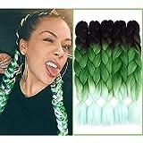 NAISIER Ombre Jumbo Braiding Hair Multicolor Braiding Extension Hair Synthetic...