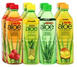Iberia Aloe Vera Drink With Pure Aloe Pulp, No Artificial Color & Flavor, Aloe Juice with Original, Mango, Pineapple & Strawberry, BPA Free, Variety Pack, 16.9 Fl Oz (Pack of 8)