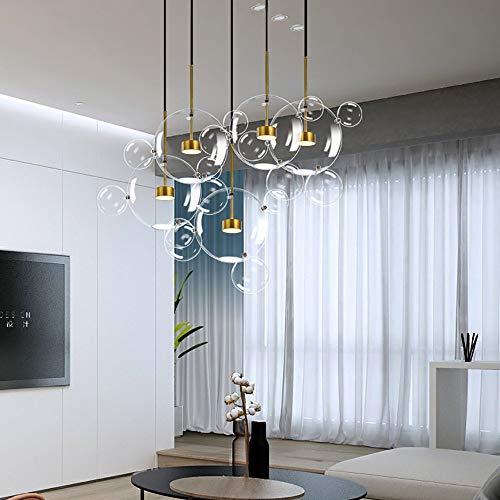 BGRBGR Lampadario/Sospensione/Plafoniera - Sala da Pranzo Sala da Pranzo Creativa Combinazione di Vetro Lampadario Post Palla di Bolle Moderna,disc-5lights-24balls