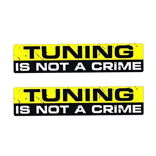 JKGHK Creative Tuning Is Not A CRIME Lustiger Aufkleber aus PVC Autoaufkleber 2 x 15 cm x 3 cm