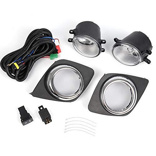 labwork-parts Luces antiniebla cromadas para Parachoques con Bombilla, arnés y Interruptor para Toyota RAV4 2009-2012