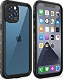 LOVE BEIDI Design for iPhone 12 Pro Max Waterproof case 6.7'', Full Body Shockproof case for iPhone 12 Pro Max Case with Screen Protector, Dust Proof Phone Case Cover for iPhone 12 Pro Max (Black)