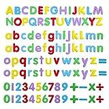 Números y Letras Magnéticas,108 Pack Alfabeto Imanes Imanes para Refrigerador EVA Números Magnéticos para Niños Juguete Educativo Aprendizaje Cuenta de Ortografía Multicolor