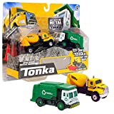 Tonka - Metal Movers Combo Pack - Garbage Truck & Cement Mixer (Grey Compound)