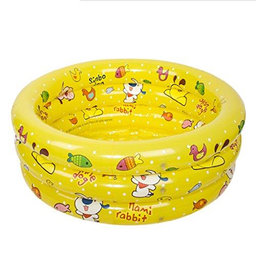 Baignoire gonflable, Piscine gonflable bébé piscine plastique Pliable enfant Baignoire ( Couleur : Le jaune )