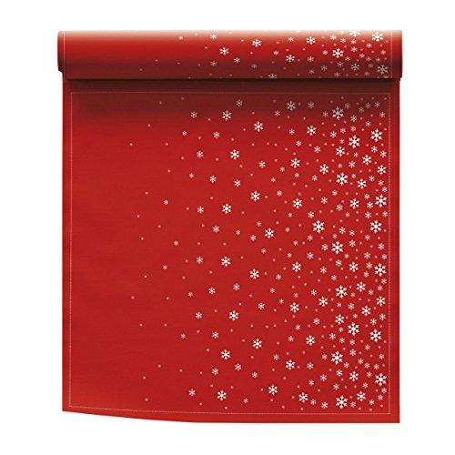 Toalla de mesa de Navidad de algodón, 32 x 32 cm, rollo de 6 servilletas, diseño de estrellas