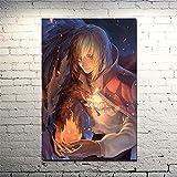 Duying Cuadro nórdico decoración del hogar Lienzo Howl No Ugoku Shiro Howl Castillo móvil Anime Manga Pintura de Pared póster Sala de Estar 50x70cm K-1787