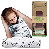 Muslin Baby Swaddle Blanket, Perfect Receiving Wrap for Newborn Girls and Boys, Unisex Soft Silky Bamboo + Cotton Swaddling blanket for toddlers, Single Pack 47' X 47' by Parenting and Children London