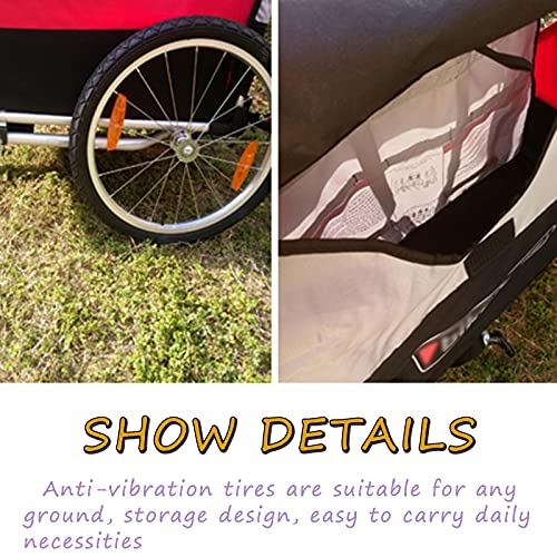 DUTUI Children's Two-Seater Outdoor Bicycle Trailer, Large Space Mountain Bike for Outing Riding, Foldable And Comfortable Seat