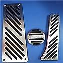 Dmwfaker at Aluminium Gas Gasbremse Fußstütze Pedale Pad Covers Aufkleber, Für Benz Smart Fortwo 2009 2014