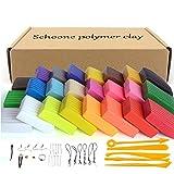 Set de bloques de arcilla polimérica para modelado, 24 colores, adecuada para hornear, segura y no tóxica, regalo ideal para niños, de Schoone