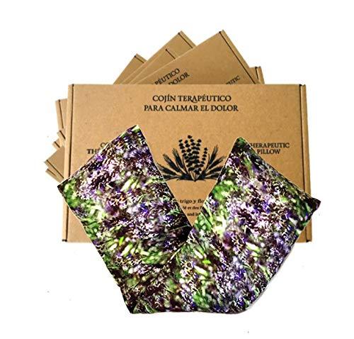 Saco semillas microonda, saco térmico de semillas con funda lavable 100% algodón con lavanda...
