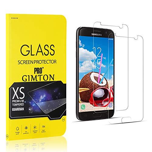 GIMTON Verre Trempé pour Galaxy S7, Ultra Mince Protection en Verre Trempé Écran pour Samsung Galaxy S7, Dureté 9H, Haute Transparent, 2 Pièces