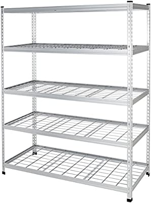 AmazonBasics Heavy Duty Storage Shelving Unit | Single Post, Aluminum