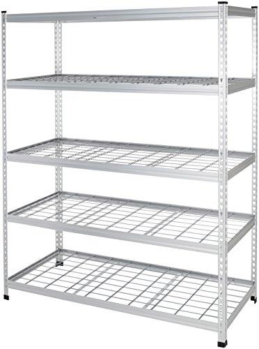 Amazon Basics Heavy Duty Storage Shelving Unit - Single Post High-Grade Aluminum