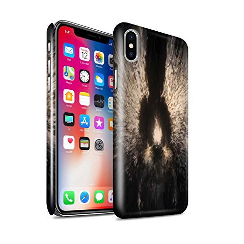 Glanz Handy Hülle kompatibel mit Apple iPhone XS Dunkle Kunst Dämon Zeriel das Licht Glänzend Hart Schutzhülle Hülle Cover