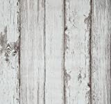 Arthome 3D Papel Tapiz Autoadhesivo Grano de Madera Contacto Papel Pintado del Vinilo Revestimiento Decorativo Mural Pegado Impermeable Para Casa Oficina Cocina Sala De Estar TV Fondo Pared 53 x...