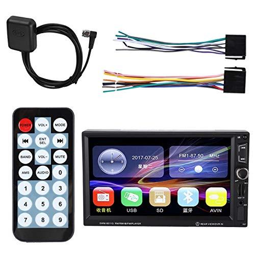 DAUERHAFT Reproductor de Video para automóvil de Doble Eje GPS portátil Reproductor de Radio para automóvil Llamadas Manos Libres inalámbricas, para Transporte, para automóviles