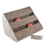 Bymia Pets Rascador de cartón para gatos de juguete para arañar postes – incluye Catnip