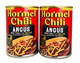Hormel Chili - Angus Beef Chili No Beans - No Artificial Ingredients 14 Ounce (Pack of 2)