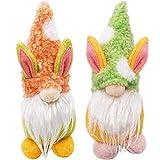 ZSWQ Easter Bunny Dwarf Dolls, Regali di Gnomo Coniglietto di Pasqua per Bambini, Gnomo Peluche Coniglio Fatto A Mano per La Decorazione della Casa (2pcs)