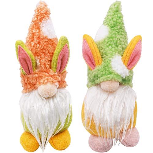 ZSWQ Ostern Plüsch Dekorationen/Handgemachte schwedische Gefüllte Plüsch Puppe Ornamente/Ostern Home Tisch Dekor Niedliches Plüsch Puppenspielzeug (2pcs)