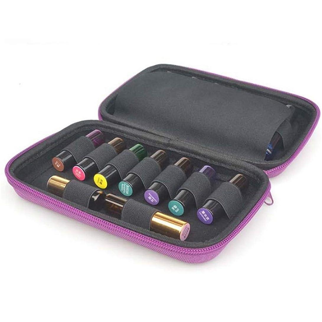 歯痛むさぼり食う手数料エッセンシャルオイルの保管 エッセンシャルオイル5?10ミリリットルローラーと標準ボトルの場合は最大15本のボトルパーフェクトのためのケースプレミアムハードシェル保護キャリング (色 : 紫の, サイズ : 20X13X4.5CM)
