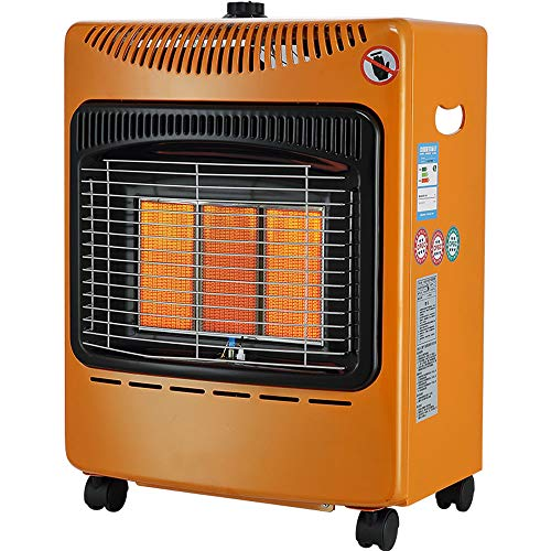 PYXZQW Ultra Quiet Fireplace Heater, Portable Space Heater for House, Garages and Workshops, Natural Gas Heater with Timing Function