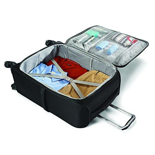 Samsonite Mightlight 2 Softside Luggage with Spinner Wheels, Grape Wine, Checked-Medium 25-Inch