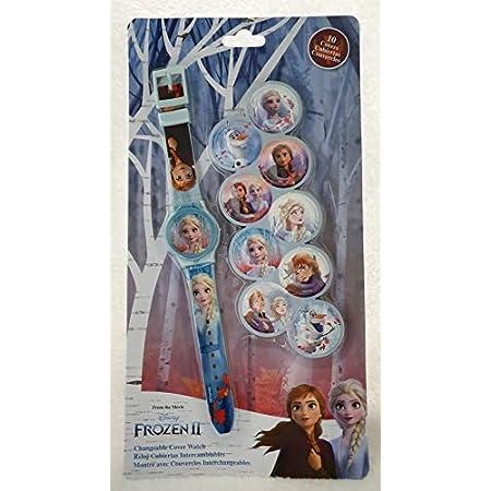 Kids Licensing |Reloj Analógico Niños | Reloj Frozen II | Esferas Intercambiables |Kit Reloj Infantil + Esferas Personalizables | Reloj de Pulsera Infantil | Reloj de Aprendizaje | Licencia Oficial